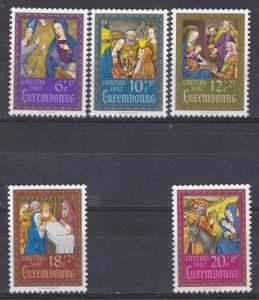 LUXEMBOURG B362-66 MNH 1987 CHRISTMAS