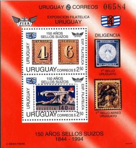 URUGUAY 1520 MNH S/S SCV $11.00 BIN $6.50