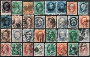 [0190] 1870-90 Selection of 32 Bank note issue used