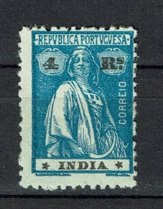 Portuguese India 1922 Ceres MH #314 Type III-IV Papel Liso