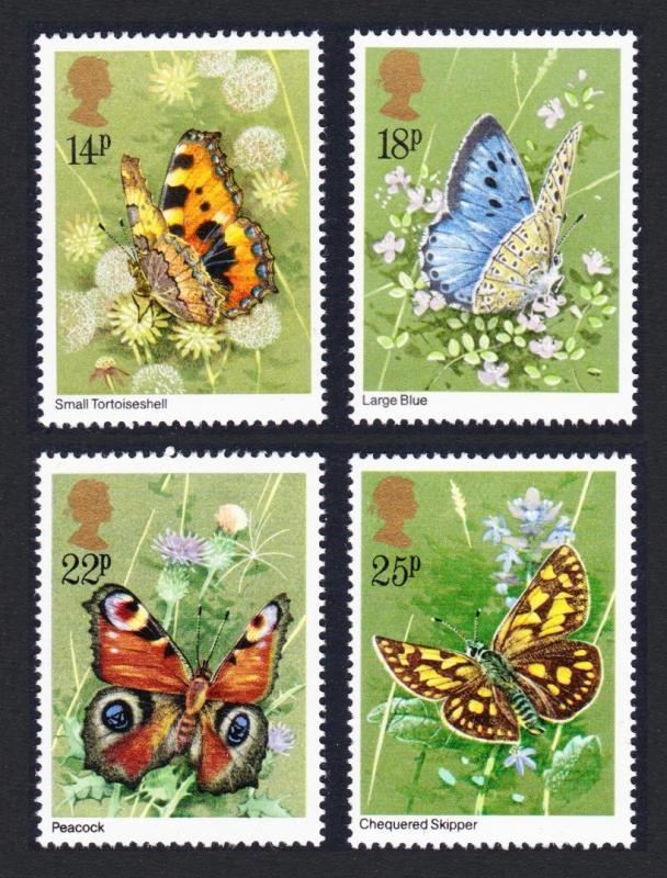 Great Britain MNH 941-4 Butterflies 1981