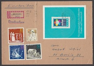 EAST GERMANY 1973 Registered cover - great franking.........................B360