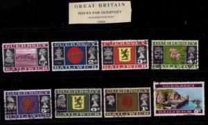 Guernsey,1969 Sc 8-21 Used Not A Complete Set Lot of (8) Baldwick Issues VF