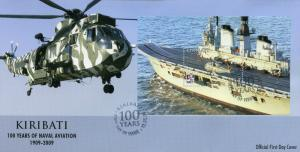 Kiribati 2009 FDC Naval Aviation 100th Ann 1v M/S Cover Helicopters Ships Stamps