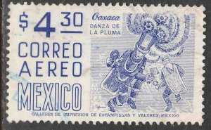MEXICO C448, $4.30 1950 Def 8th Issue Fosforescent coated. USED. F-VF. (1038)