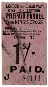(I.B) London & North Eastern Railway (GN section) : Parcel 1/- (King's Cross)