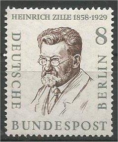 BERLIN, 1958, MNH 8pf Portraits Scott 9N149