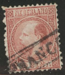 Netherlands Scott 8d used 1867 stamp perf 13.25 x 14