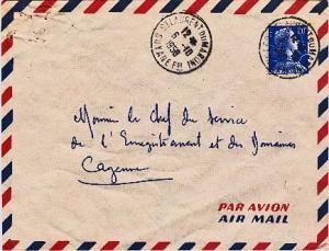 French Guiana France 20F Marianne 1958 St. Laurent Du Maroni, Guyanefse Airma...