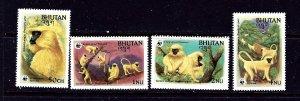 Bhutan 413-16 MNH 1984 Endangered Species   #2