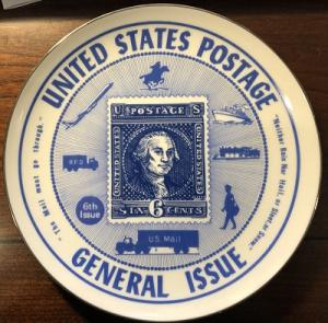 Vintage Collector Plate featuring George Washington Scott 126 - Like New