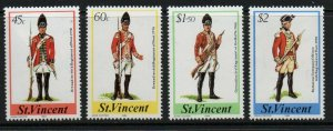 ST.VINCENT SG830/3 1984 MILITARY UINFORMS MNH