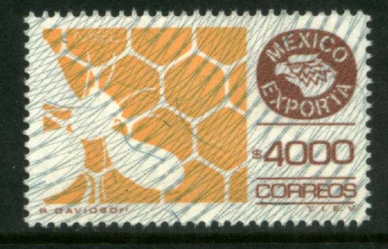 MEXICO Exporta 1504 $4000P Honey Wmk Granite Paper 9 MNH