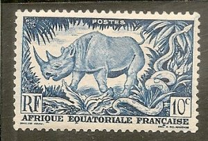 French Equatorial Africa   Scott 166    Animal   MNH