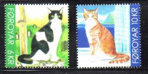 Faroe Islands Sc 551-52 2011 Cats stamp set  mint NH
