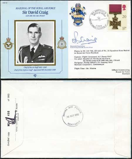 CDM22b MRAF Sir David Craig Signed by Himself