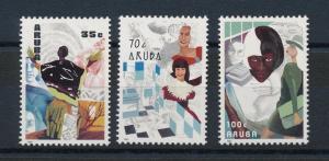 [AR089] Aruba 1991 Paintings of working women  MNH