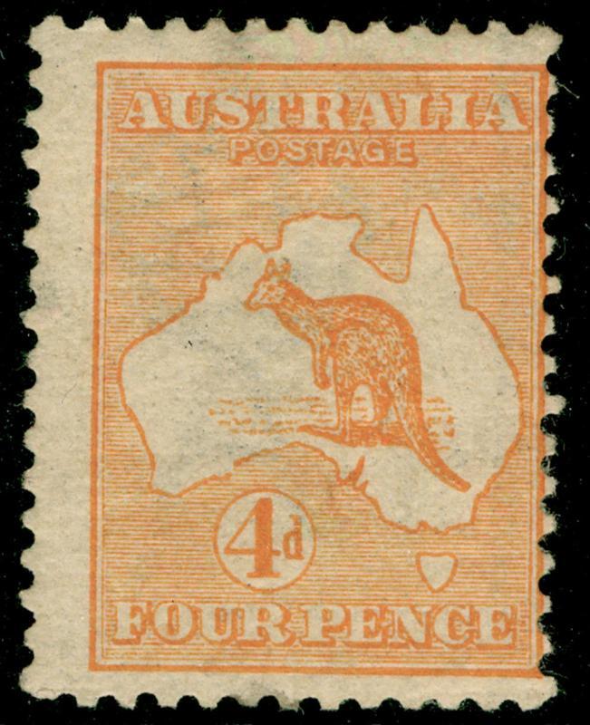 AUSTRALIA SG6, 4d orange, M MINT. Cat £90.
