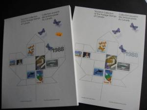 Canada Post official 1988 annual souvenir collection stamps are in mounts