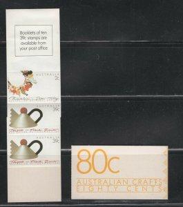 Australia #1097a (1988 80 cent Contemporary Art booklet) VFMNH CV $6.75