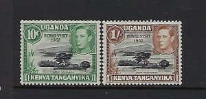 KENYA UGANDA TANGANYIKA- SCOTT#98-99  1952 ROYAL VISIT  MINT LIGHT  HINGEDH