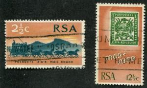 South Africa SC# 357-8 SA Postage Stamps 2-1/2c, 2-1/2c Used