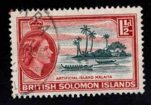British Solomon Islands Scott 91 Used wmk 4 QE2