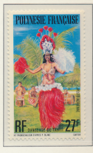 French Polynesia Stamp Scott #C148, Mint Never Hinged, No Gum - Free U.S. Shi...