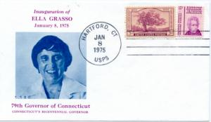 Ella Gasso Inaugural cover Noble Catalog number oCT-75-01