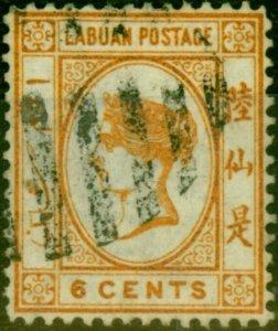 Labuan 1880 6c Orange-Brown SG6 Fine Used