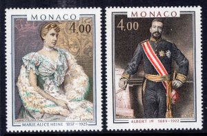 Monaco 1255-1256 MNH VF