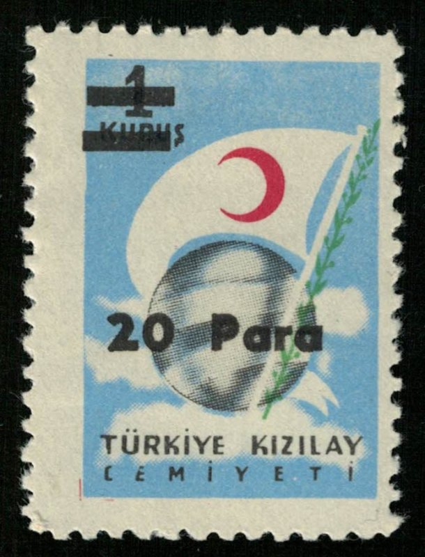 1956, Red Crescent Stamp of 1954 Surcharged, Turkey, 20/1Pa/K (RТ-460)