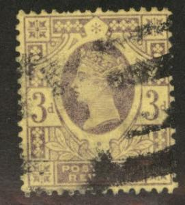 Great Britain Scott 115, Victoria CV$3.75 1887