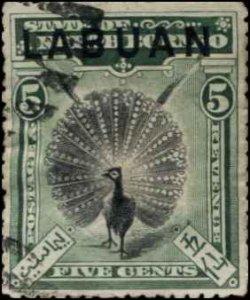 1894 LABUAN 5c SC#52 USED