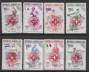 JL G44, 1957, DOMINICAN REPUBLIC B1 - 5 CB1 - 3, SPORTS OLYMPICS, MNH
