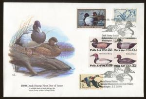 1989 Washington DC Duck Stamp #RW56 Don Balke Fleetwood First Day Cover