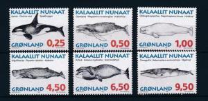 [29373] Greenland 1996 Marine Life Whales MNH