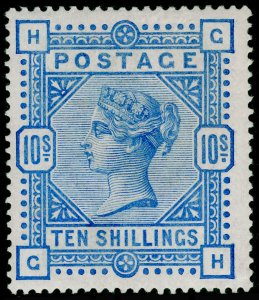 SG183, 10s ultramarine, LH MINT. Cat £2250. GH