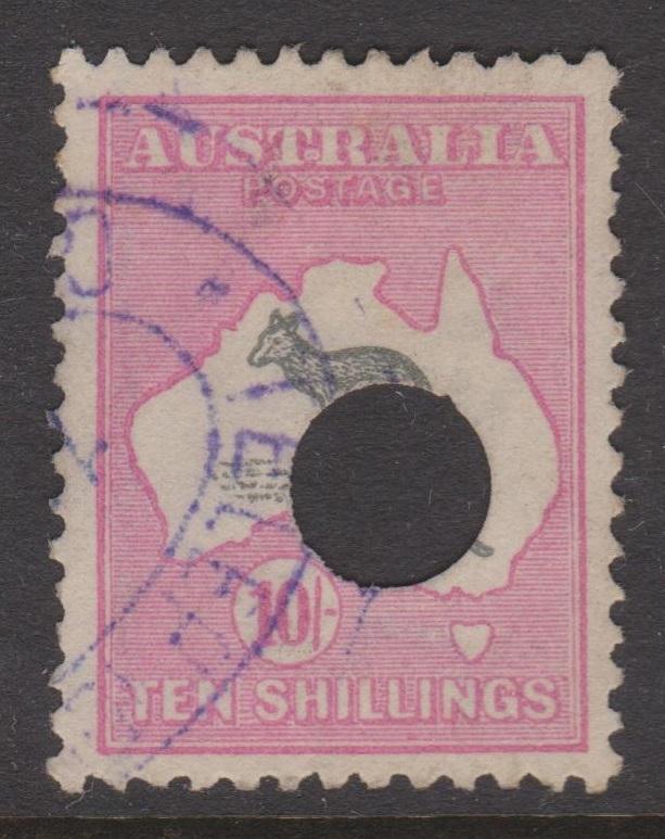 Australia Sc#55 Used Telegraph Punch Cancel