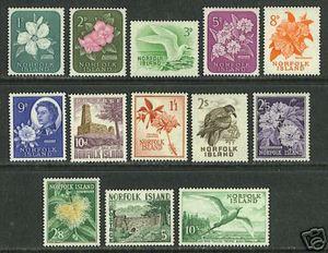 Norfolk Islands #29-41 VF MNH - 1960 Flowers - Birds