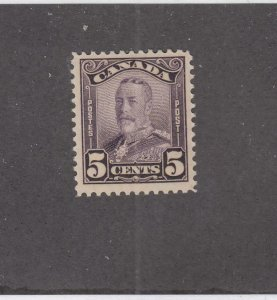 CANADA (MK4661) # 153  VF-MH  5cts  1928 KGV SCROLL ISSUE /DP VIOLET CAT VAL $25