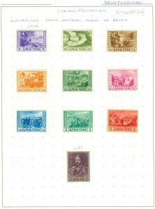 EDW1949SELL : MONTENEGRO Mint collection on pages.