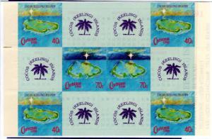 COCOS ISLAND 222 MNH BOOKLET SCV $27.50 BIN $15.00 GEOGRAPHY
