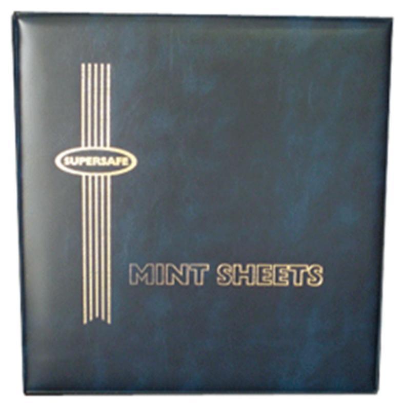 Supersafe Deluxe Mint Sheet File - Binder ONLY - BLUE