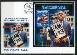 MALDIVES 2018 50th MEMORIAL ANNIVERSARY OF MARTIN LUTHER KING, Jr. S/S  FDC