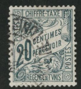 Tunis Tunisia Scott J5 used 1901 postage due