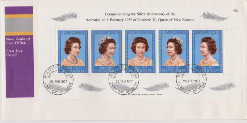 New Zealand 1977 Silver Jubilee First Day Cover