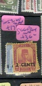 MALAYA TRENGGANU  (PP2706B)  SULTAN  RE VALUD SG 59-60     MNH
