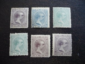Stamps - Cuba - Scott# 133,136,140,145,147,153 - MH - Partial Set of 6 Stamps