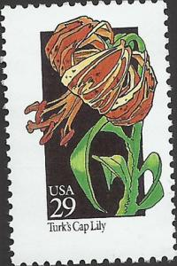 # 2681 MINT NEVER HINGED TURK'S CAP LILY